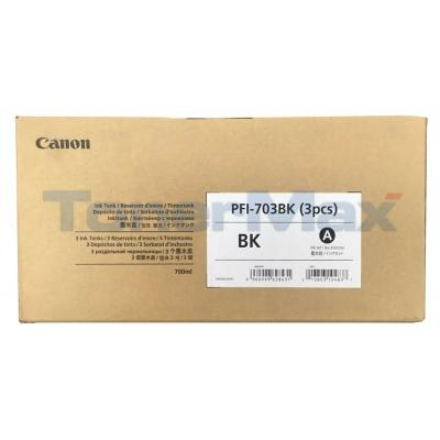 CANON PFI-703BK INK TANK DYE BLACK 3PACK